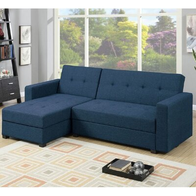 Sleeper Sectional Upholstery: Navy Blue