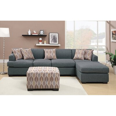 Infini Furnishings INF7971-3JB Reversible Chaise Sectional Upholstery