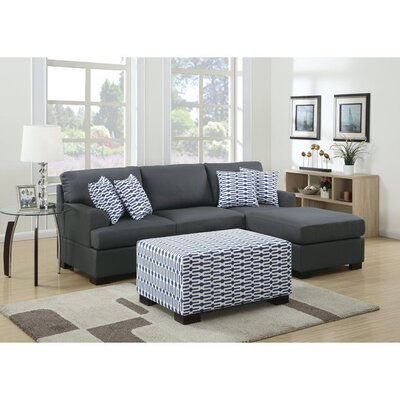 Infini Furnishings INF7990-1JB Reversible Chaise Sectional Upholstery