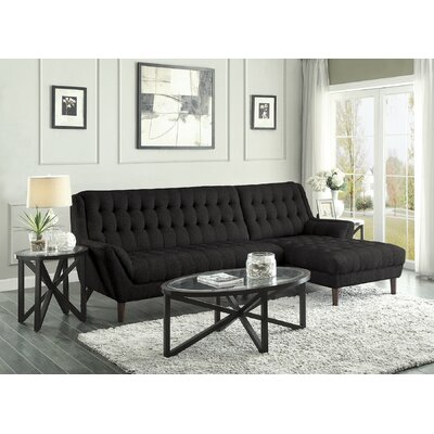 Kaden Sectional Upholstery: Black