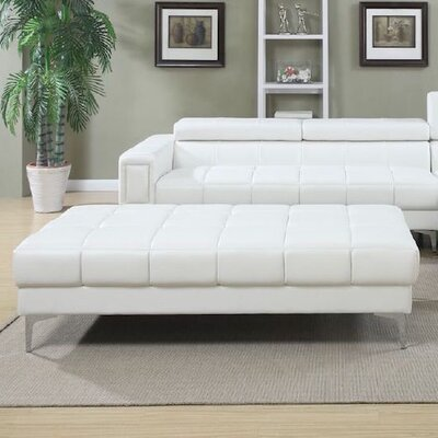 Cocktail Ottoman Upholstery: White