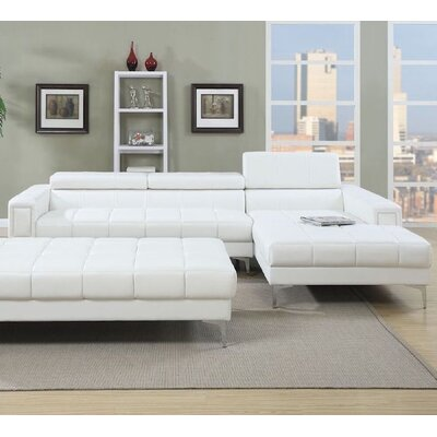 Infini Furnishings INF7364JB Manhattan Sectional Finish