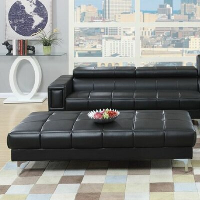Cocktail Ottoman Upholstery: Black