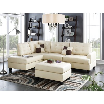 Reversible Chaise Sectional Upholstery: Beige