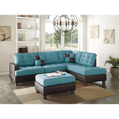 Sectional Upholstery: Teal