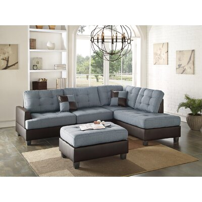 Reversible Sectional Upholstery: Gray INF6858JBW