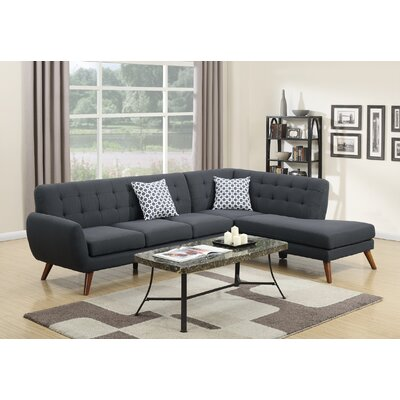 Sectional Upholstery: Ash Black