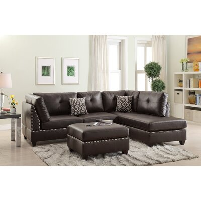 Infini Furnishings INF6973JBW Reversible Sectional