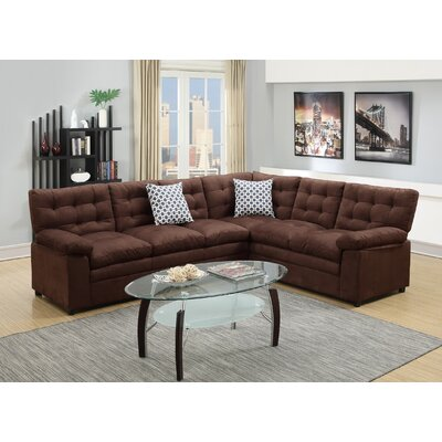 Sectional Upholstery: Chocolate Brown