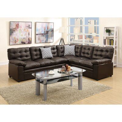 Sectional Upholstery: Espresso