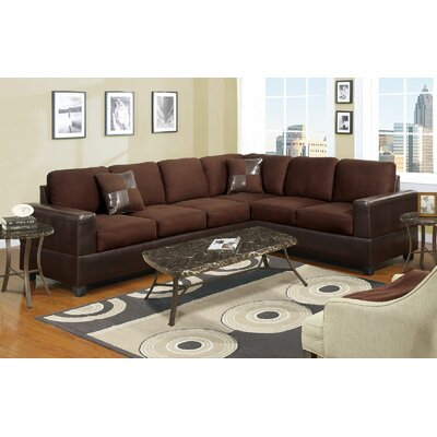 Reversible Sectional Upholstery: Chocolate Brown