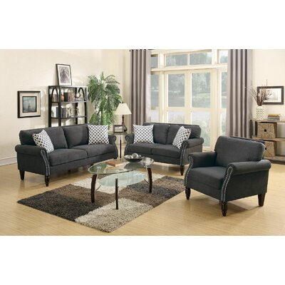Infini Furnishings INF6926JB 3-Piece Living Room Set
