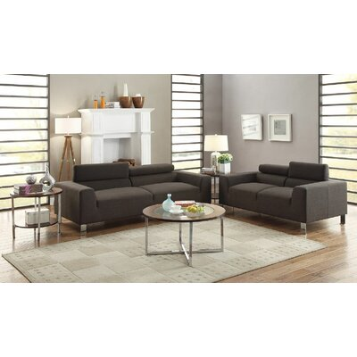 Infini Furnishings INF7267JB Dorris Sofa and Loveseat Set