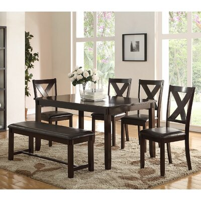 6 Piece Dining Set Finish: Espresso