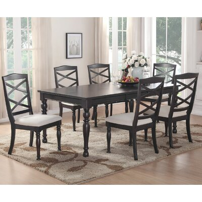 7 Piece Dining Set Finish: Esprsso