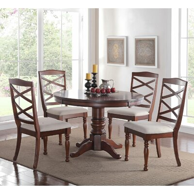 5 Piece Dining Set Finish: Cherry