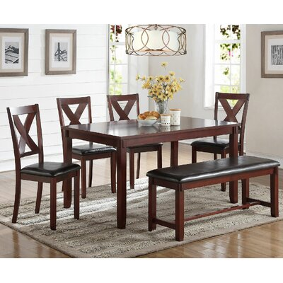 6 Piece Dining Set Finish: Cherry