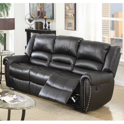 Ingaret Reclining Sofa Finish: Black