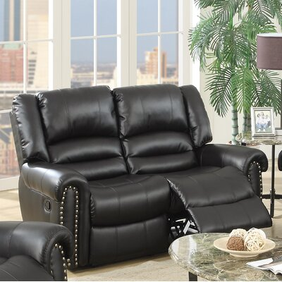Ingaret Reclining Loveseat Finish: Black
