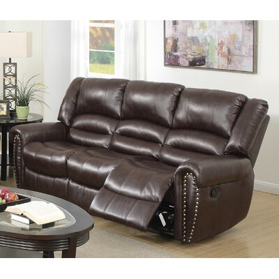 Ingaret Reclining Sofa Finish: Brown