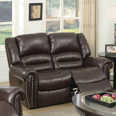 Ingaret Reclining Loveseat Finish: Brown