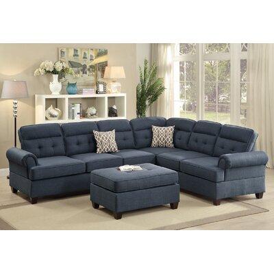 Sectional Upholstery: Dark Blue