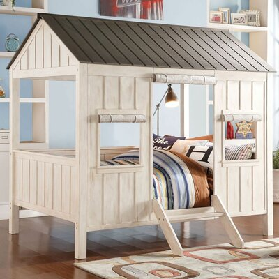 Cottage Full Bed Color: Gray/White
