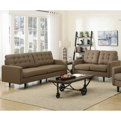 Infini Furnishings INC505377-8JB Rochester Sofa and Loveseat Set Upholstery