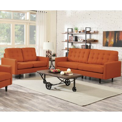 Rochester Sofa and Loveseat Set Upholstery: Canyon Orange