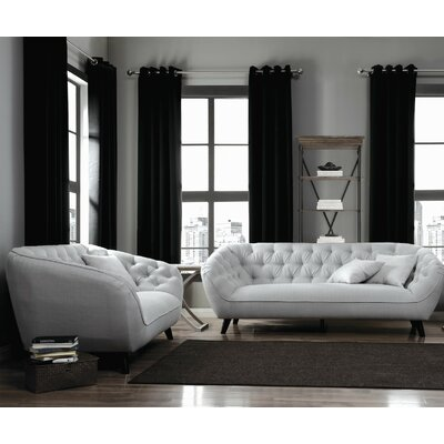 Infini Furnishings INC505911-2JB Cloverdove Sofa and Loveseat Set