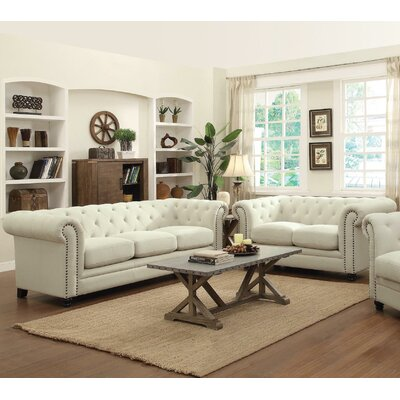 Geneva Sofa and Loveseat Set Upholstery: Oatmeal