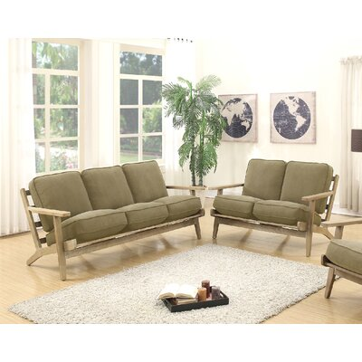 2 Piece Living Room Set Upholstery: Willow