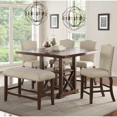 Amelie II 6 Piece Counter Height Dining Set