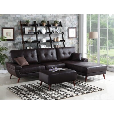 Infini Furnishings INF6866JB Sectional Upholstery