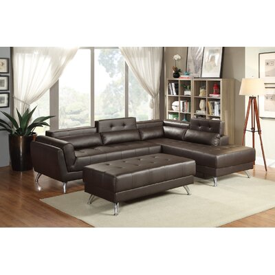 New Rochester Sectional Upholstery: Espresso