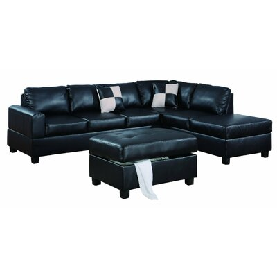 Reversible Sectional Upholstery: Black