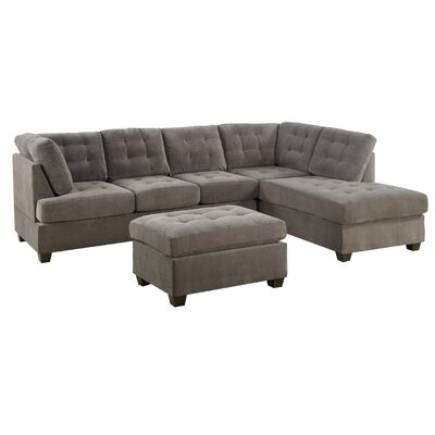 Reversible Sectional Upholstery: Taupe Grey