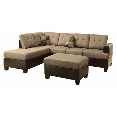 Reversible Sectional Upholstery: Tan