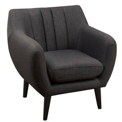 Samson Arm Chair Upholstery: Ash Black