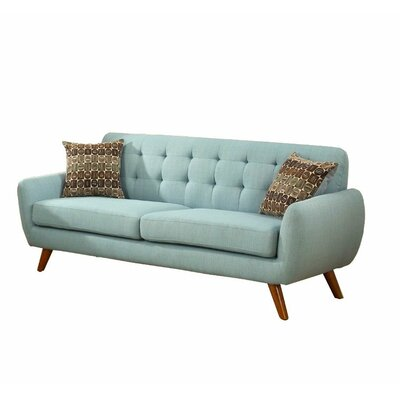 Retro 2 Piece Living Room Set Upholstery: Blue Green