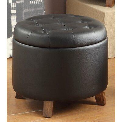 Gotham Ottoman Upholstery: Black