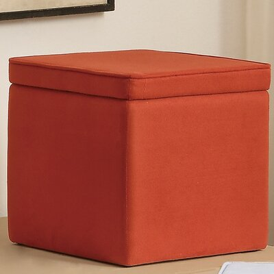 Storage Ottoman Upholstery: Coral