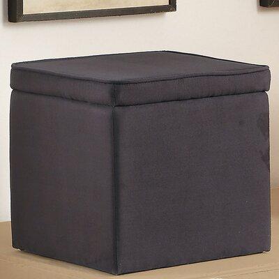 Storage Ottoman Upholstery: Ebony