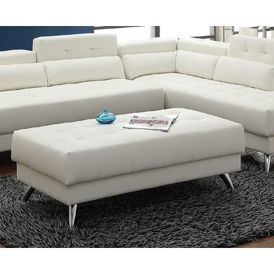 New Rochester Cocktail Ottoman Upholstery : White