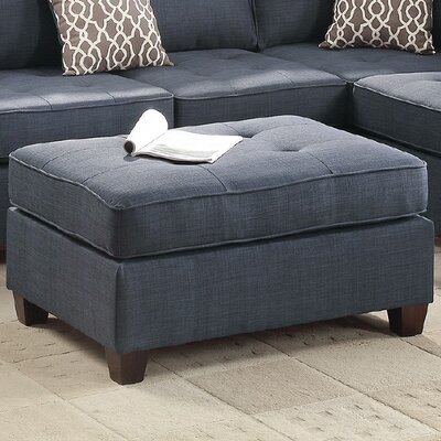 Cocktail Ottoman Upholstery: Dark Blue