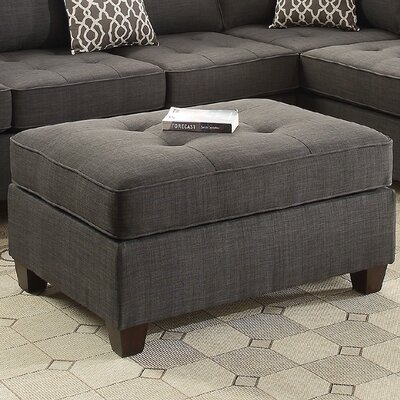 Cocktail Ottoman Upholstery: Charcoal