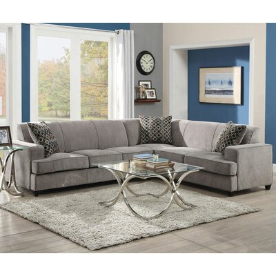 Infini Furnishings INC500727JB Kelsee Sleeper Sectional