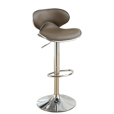 Adjustable Height Swivel Bar Stool Upholstery: Espresso