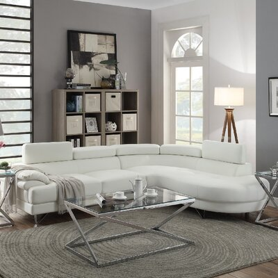 Normandy Sectional Upholstery: White