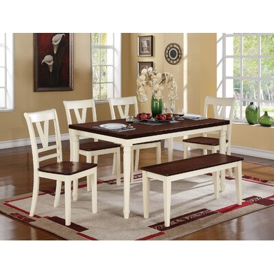 6 Piece Dining Set Finish: Antique White